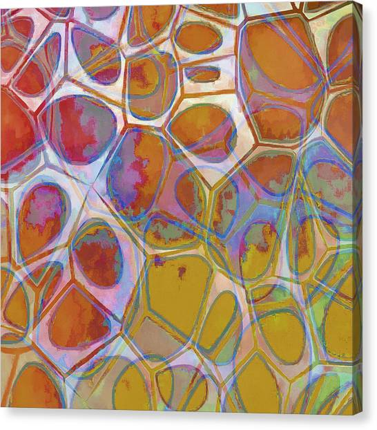 Yellow Canvas Print - Cell Abstract 14 by Edward Fielding