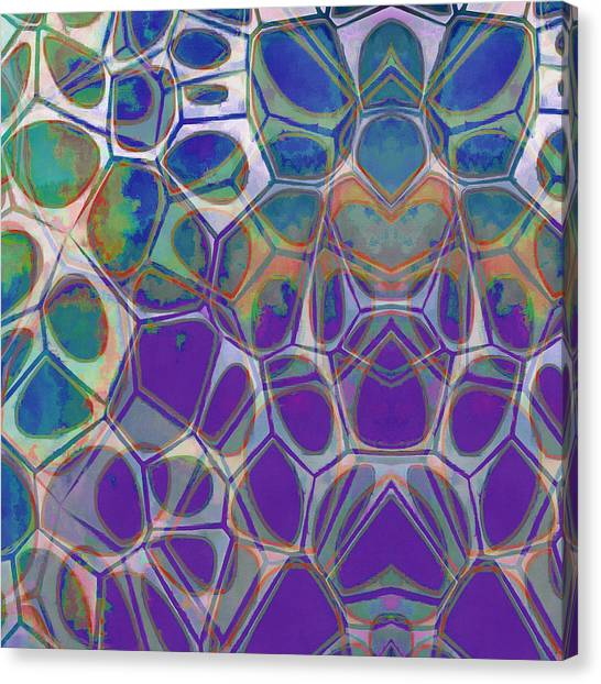 Canvas Print - Cell Abstract 17 by Edward Fielding