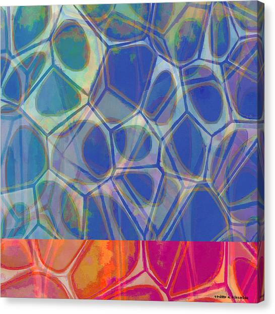 Yellow Canvas Print - Cell Abstract One by Edward Fielding