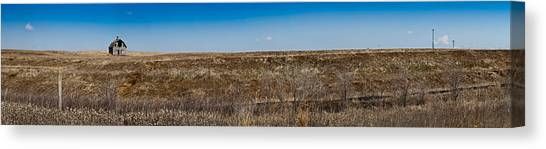 Cell Towers Invade The Prairie Canvas Print
