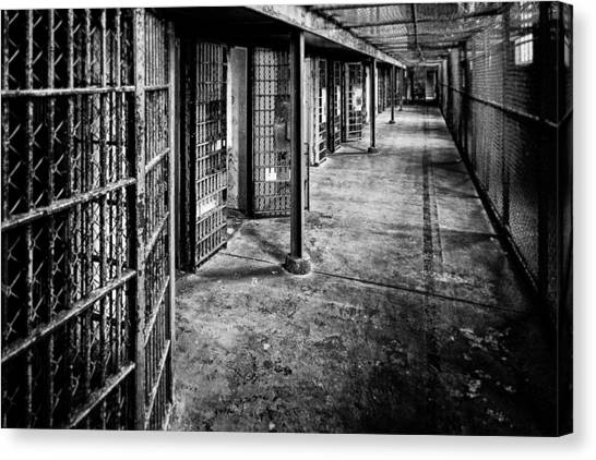 West Virginia Canvas Print - Cellblock No. 9 by Tom Mc Nemar