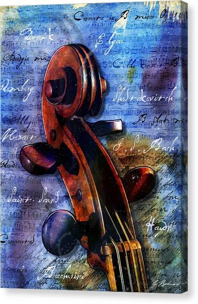 Mozart Canvas Print - Cello Masters by Gary Bodnar