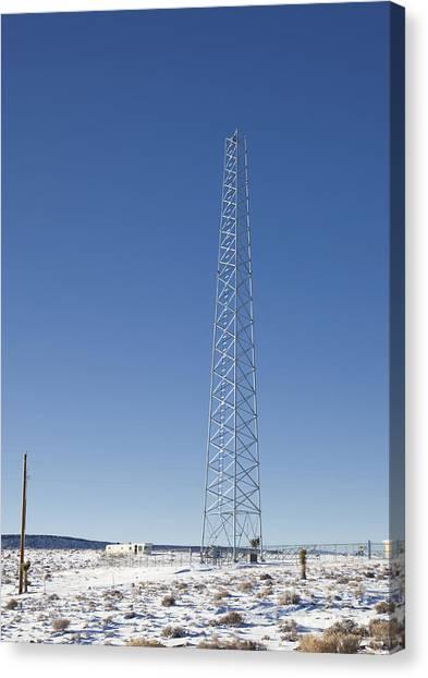 Cellphone Tower Canvas Print by David Buffington