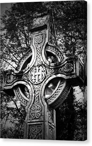 Celtic Cross Detail Killarney Ireland Canvas Print