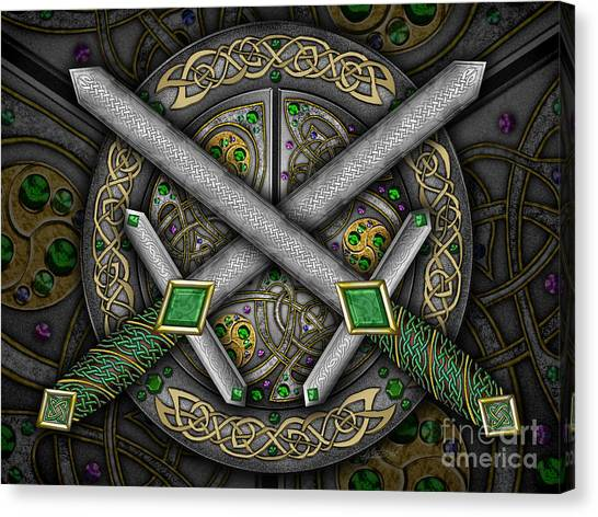 Celtic Daggers Canvas Print