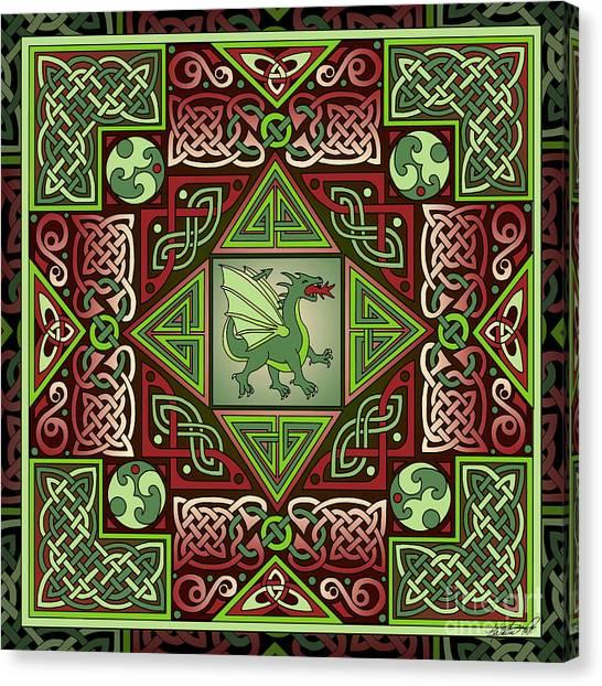 Celtic Dragon Labyrinth Canvas Print