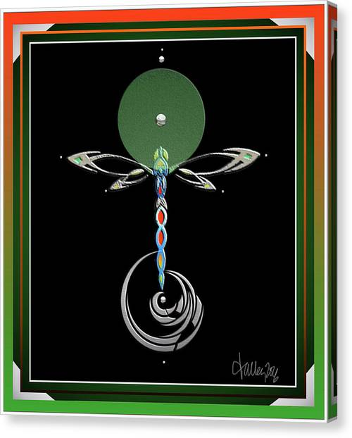 Celtic Dragonfly Canvas Print