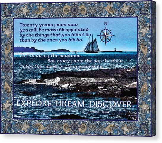 Celtic Explorer - Bluenose II In Halifax Harbour Canvas Print