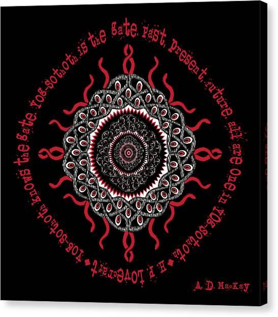Celtic Lovecraftian Cosmic Monster Deity Canvas Print