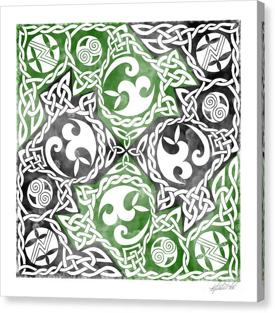 Celtic Puzzle Square Canvas Print