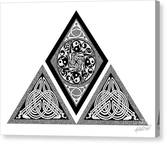 Celtic Pyramid Canvas Print