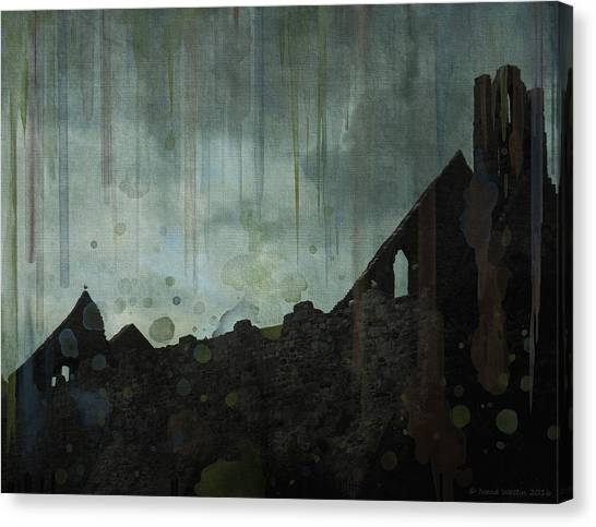 Canvas Print featuring the painting Celtic Ruins by Ivana Westin