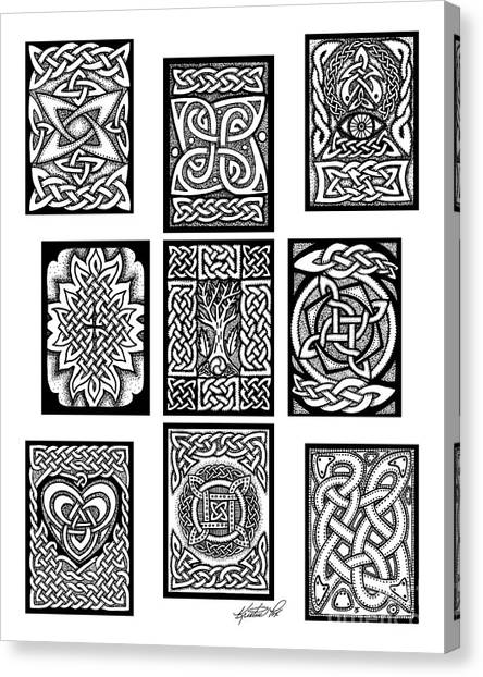 Celtic Tarot Spread Canvas Print