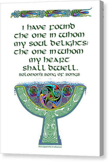 Celtic Wedding Goblet Canvas Print