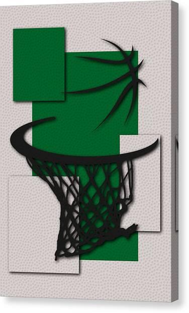 Boston Celtics Canvas Print - Celtics Hoop by Joe Hamilton