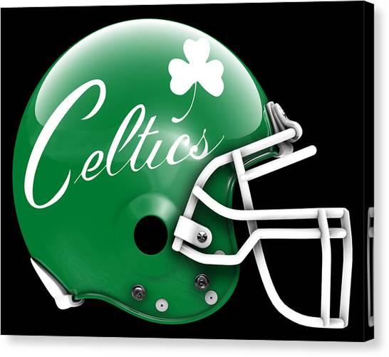 Boston Celtics Canvas Print - Celtics What If Its Football by Joe Hamilton