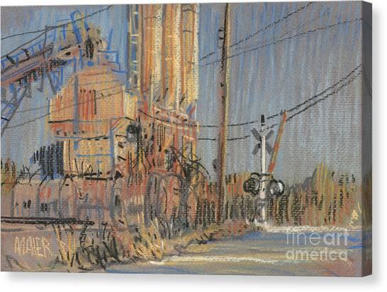 Train Canvas Print - Cement Hopper by Donald Maier