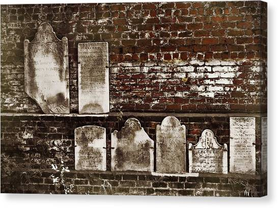 Cemetary Wall Canvas Print by JAMART Photography