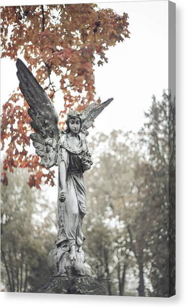 Angel Falls Canvas Print - Cemetery Angel by Art of Invi