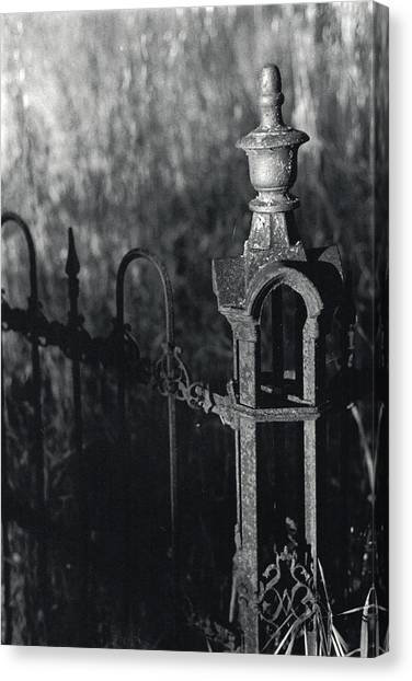 Cemetery  Fence Canvas Print
