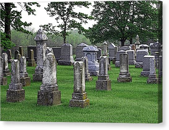 Cemetery Grunge Canvas Print by Carl Perry
