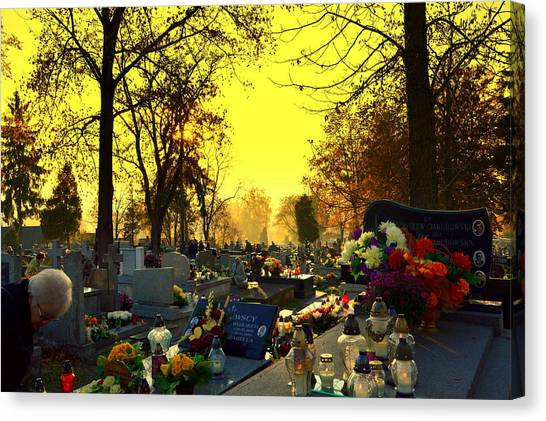 Cemetery In Feast Of The Dead Canvas Print