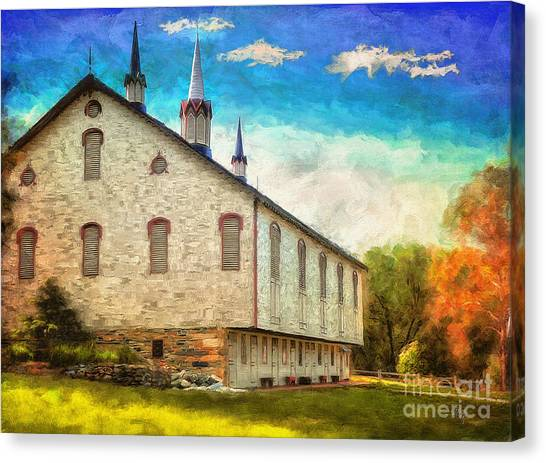 Centennial Canvas Print - Centennial Barn by Lois Bryan
