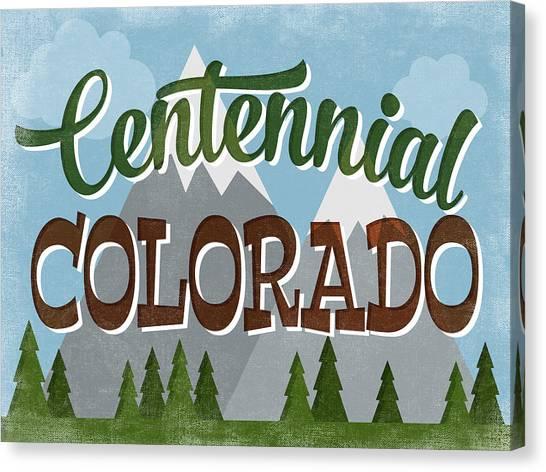 Centennial Canvas Print - Centennial Colorado Snowy Mountains by Flo Karp
