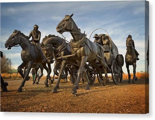 Centennial Canvas Print - Centennial Statues IIi by Ricky Barnard