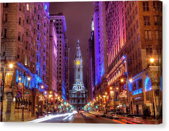 Consumerproduct Canvas Print - Center City Philadelphia by Eric Bowers Photo