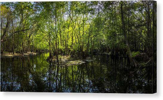 Bass Fishing Canvas Print - Center Island by Marvin Spates