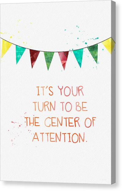 Celebration Canvas Print - Center Of Attention- Card by Linda Woods