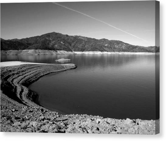 Water Skis Canvas Print - Centimudi In Black And White by Joyce Dickens