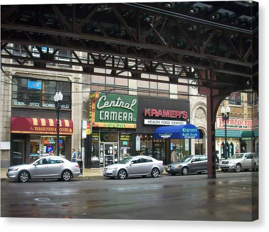 Central Camera On Wabash Ave  Canvas Print