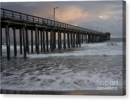 Central Coast Pier Canvas Print by Ronald Hoggard
