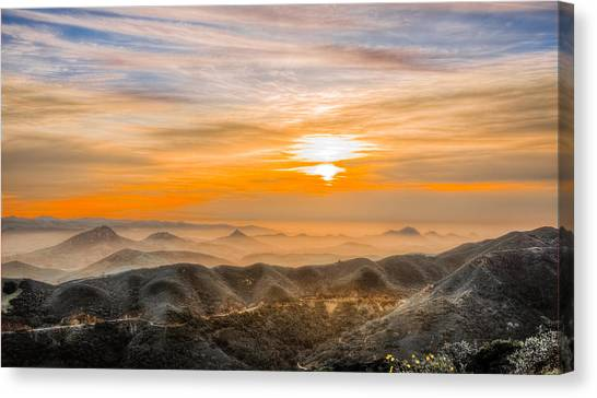 Cal Poly Canvas Print - Central Coast Sunset by Bill Rumbler