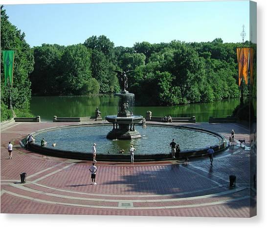 Central Fountain Canvas Print
