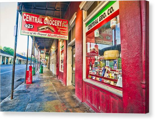 Central Grocery And Deli In The French Quarter Canvas Print