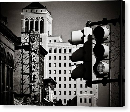 Stoplights Canvas Print - Central Northside by Jessica Brawley