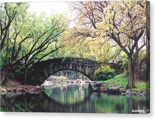 Central Park Bridge Canvas Print by Al Blackford