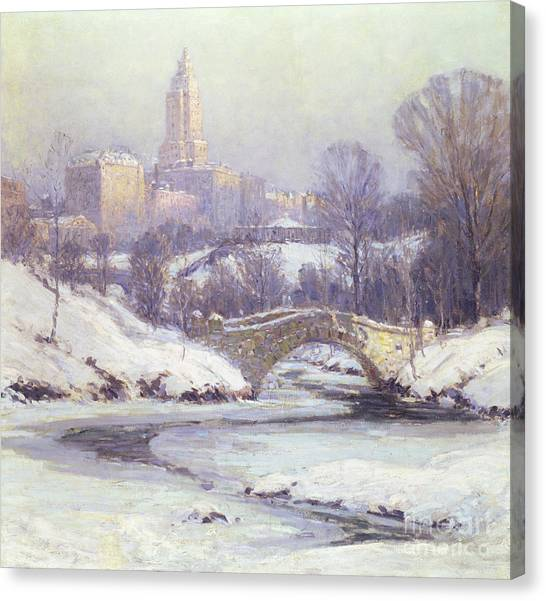 Central Park Canvas Print - Central Park by Colin Campbell Cooper