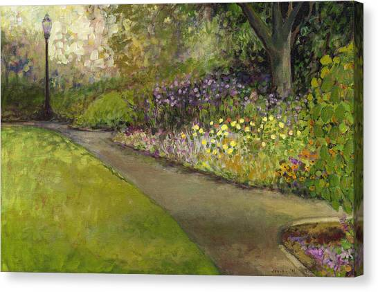 Plein Air Canvas Print - Central Park by Jennifer Lommers