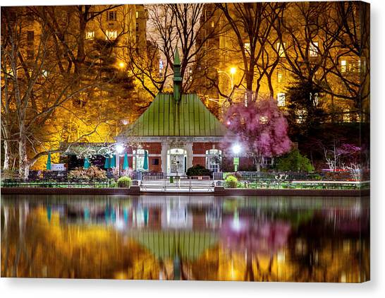 Bush Canvas Print - Central Park Memorial by Az Jackson