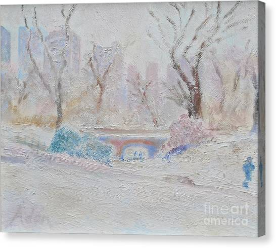 Central Park Record Early March Cold Circa 2007 Canvas Print