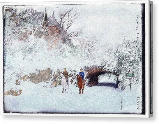 Central Park Snow Canvas Print