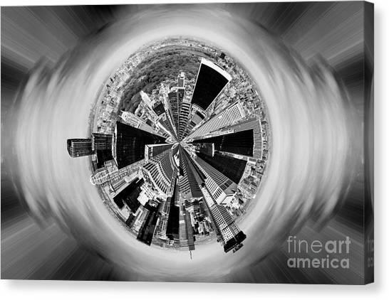 Skyscrapers Canvas Print - Central Park View Bw by Az Jackson
