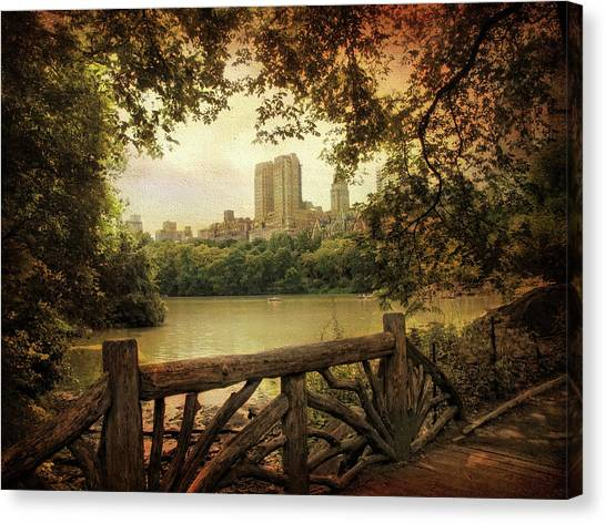 Summer Canvas Print - Central Park View by Jessica Jenney