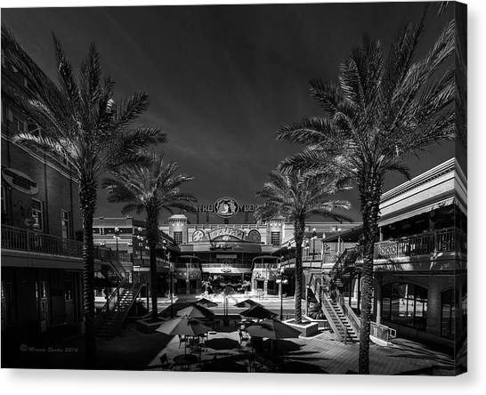 Colombian Canvas Print - Centro Ybor Bw by Marvin Spates