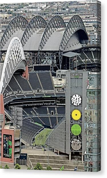 Mls Canvas Print - Century Link Field - Seahawks by Brad Walters