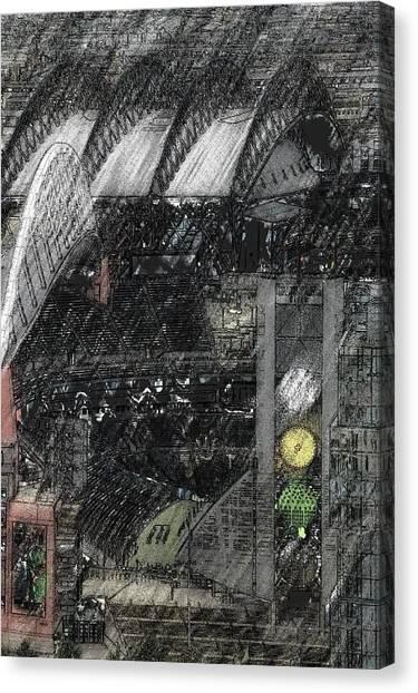 Mls Canvas Print - Century Link Field - Seahawks - Monet by Brad Walters